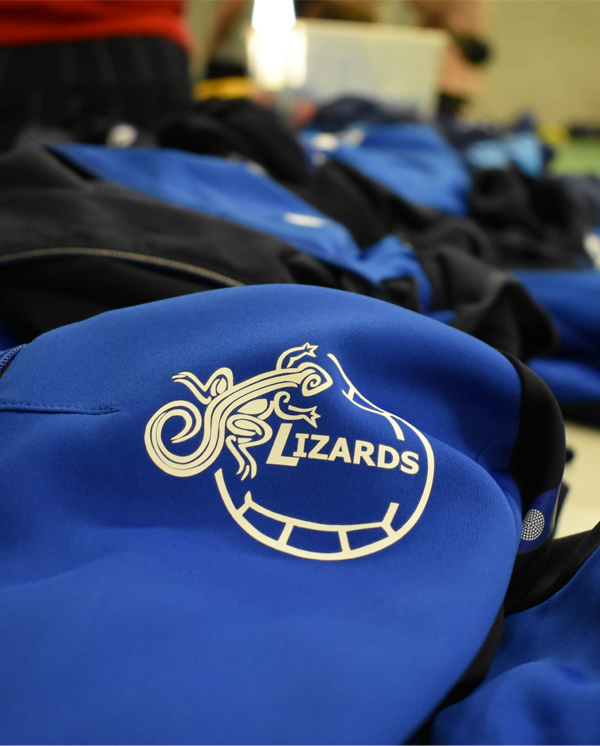 Logo Lizards op trainingsvest